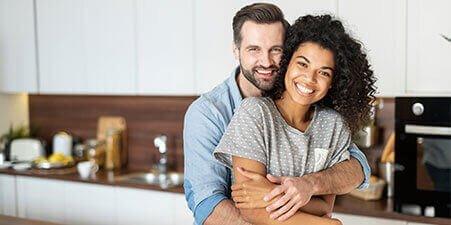 happy couple using carbon-60